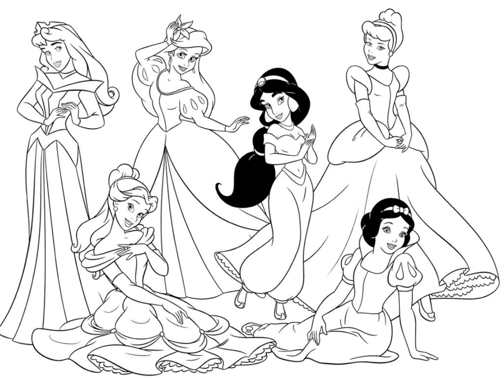 Immagini Principesse Da Colorare.Disegni Da Colorare Principesse I Piu Belli Da Stampare