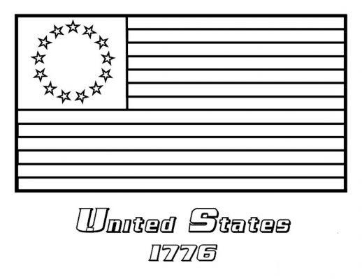 bandiera da colorare