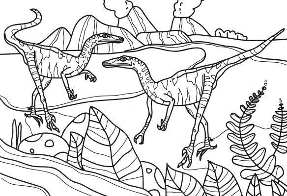 dinosauri da colorare e stampare ecco le immagini più belle