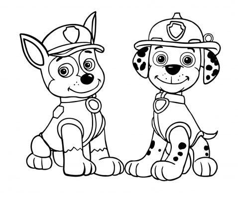 Paw Patrol da colorare Rubble
