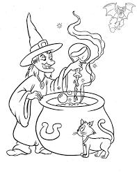 strega halloween da colorare