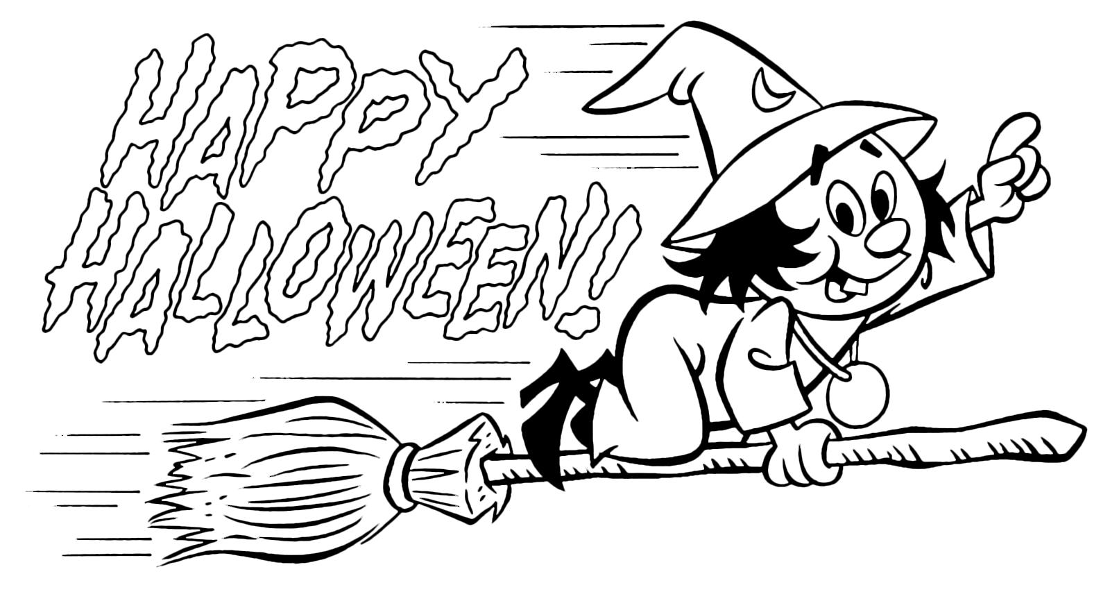 Streghe da colorare Halloween: tantissime foto da stampare