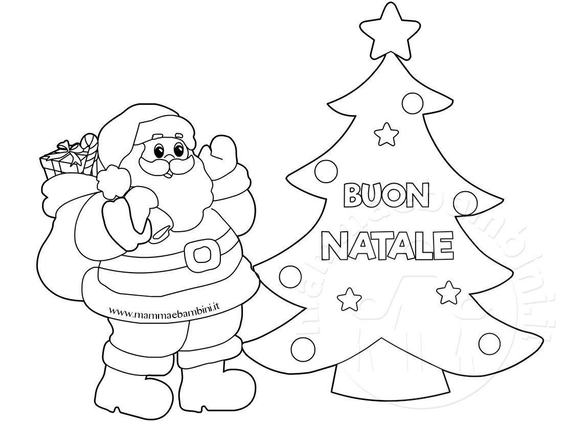 Disegni di Babbo Natale da stampare e colorare: ecco i più belli