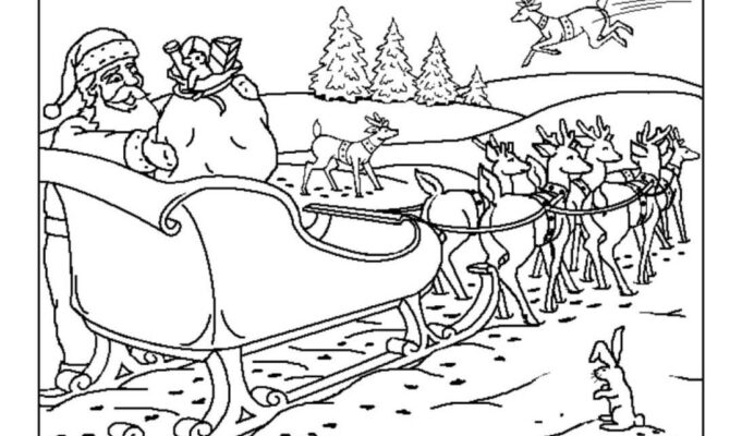 disegni di babbo natale per bambini