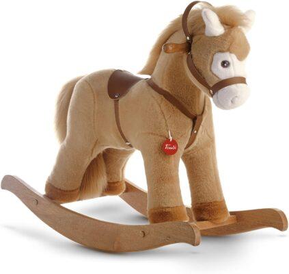 Trudi gioco in legno cavallino a dondolo peluche