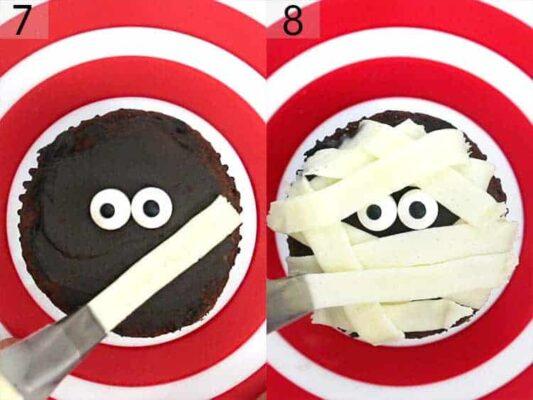 Muffin mummia  Cupcake Mummia muffin al cioccolato di halloween