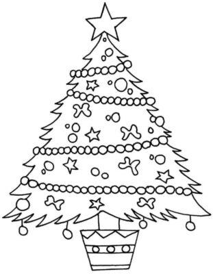 disegno albero di natale