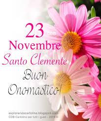 onomastico 23 novembre san clemente