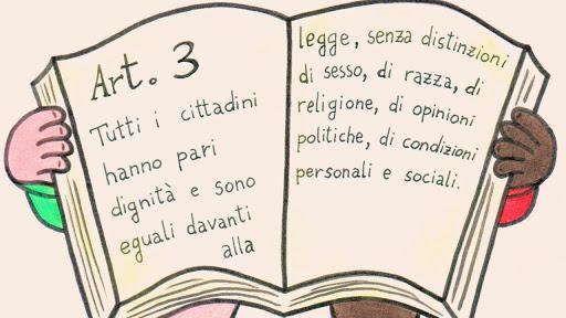 la costituzione italiana speigata ai bambini