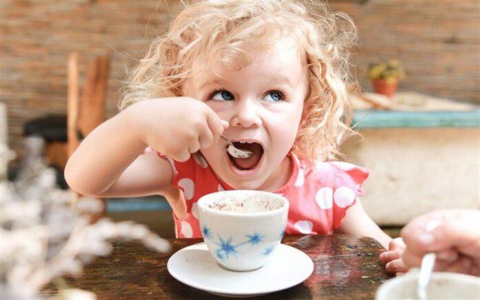 caffè ai bambini
